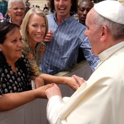 Catholic Earthcare Director meets Pope Francis ahead of ecological encyclical release