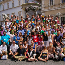 Tess Corkish represents Catholic Earthcare Australia in Rome