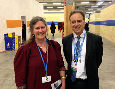 Philippa Rowland with Environment Minister Greg Hunt