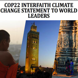 COP22 Interfaith Climate Change Statement to World Leaders